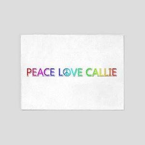 Peace Love Callie 5'x7' Area Rug