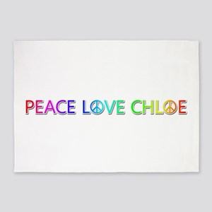 Peace Love Chloe 5'x7' Area Rug