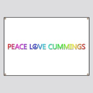 Peace Love Cummings Banner