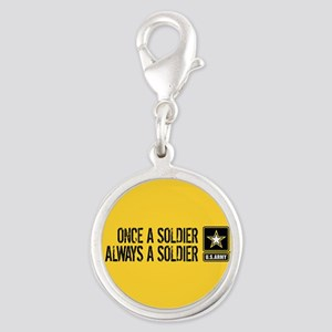 U.S. Army: Once a Soldier (Gol Silver Round Charm