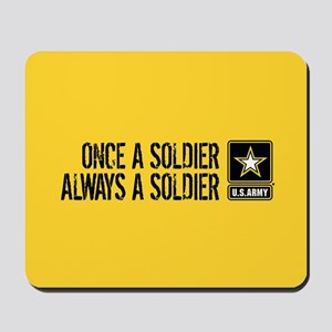 U.S. Army: Once a Soldier (Gold) Mousepad