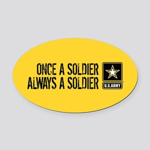 U.S. Army: Once a Soldier (Gold) Oval Car Magnet