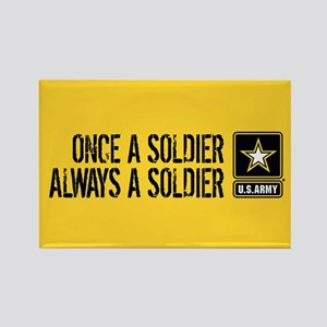 U.S. Army: Once a Soldier (Gold) Rectangle Magnet
