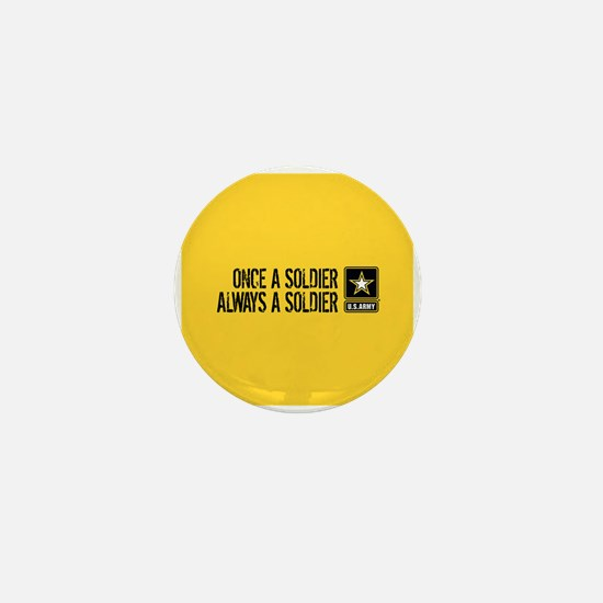 U.S. Army: Once a Soldier (Gold) Mini Button