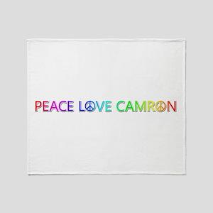 Peace Love Camron Throw Blanket