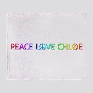 Peace Love Chloe Throw Blanket