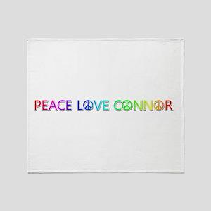 Peace Love Connor Throw Blanket