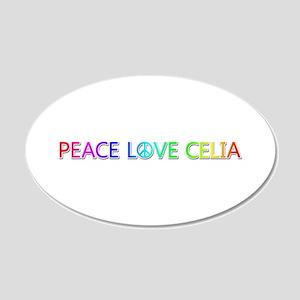 Peace Love Celia 20x12 Oval Wall Decal