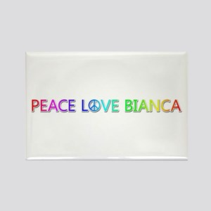 Peace Love Bianca Rectangle Magnet