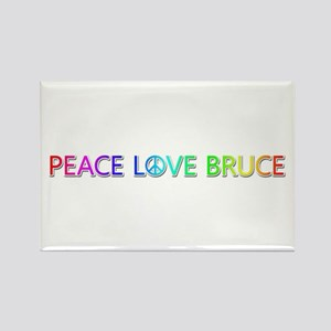 Peace Love Bruce Rectangle Magnet
