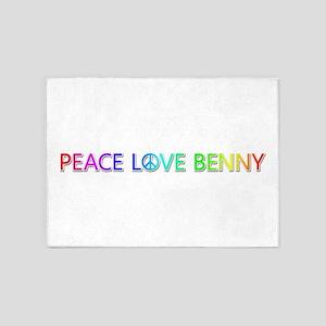 Peace Love Benny 5'x7' Area Rug