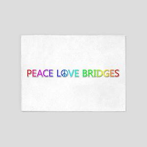 Peace Love Bridges 5'x7' Area Rug