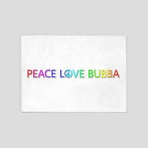 Peace Love Bubba 5'x7' Area Rug