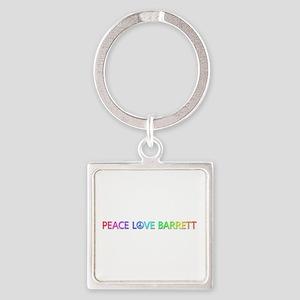 Peace Love Barrett Square Keychain