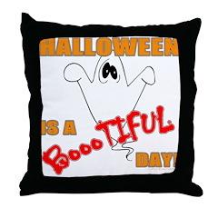 Halloween is Boootiful Throw Pillow