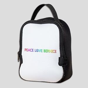 Peace Love Bernice Neoprene Lunch Bag