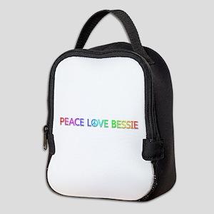 Peace Love Bessie Neoprene Lunch Bag