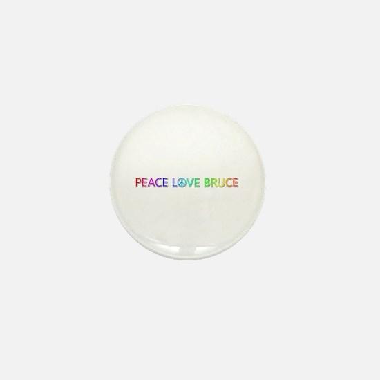 Peace Love Bruce Mini Button