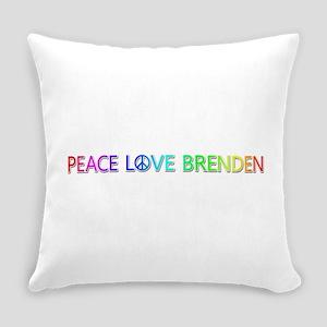 Peace Love Brenden Everyday Pillow