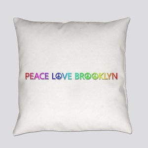 Peace Love Brooklyn Everyday Pillow