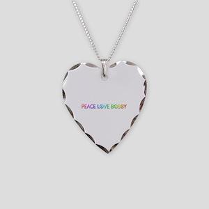 Peace Love Bobby Heart Necklace
