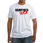Vampires Suck Fitted T-Shirt