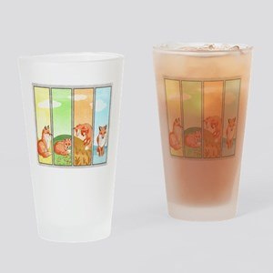 Season of the Foxes Drinking Glass