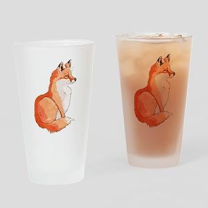 Sitting Fox Drinking Glass