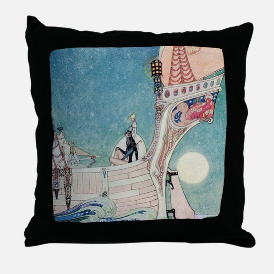 The Man Who Never Laughed Throw Pillow