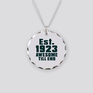Est. 1923 Awesome Till End B Necklace Circle Charm