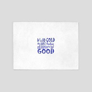 cold:humor 5'x7'Area Rug