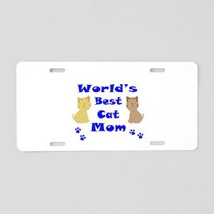 World's Best Cat Mom Aluminum License Plate