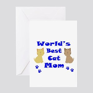 World's Best Cat Mom Greeting Cards