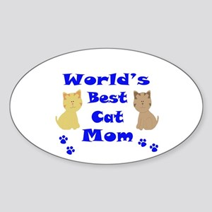 World's Best Cat Mom Sticker