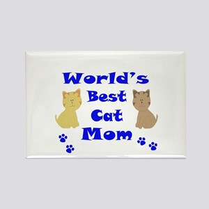 World's Best Cat Mom Magnets
