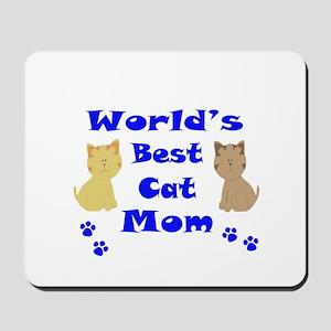 World's Best Cat Mom Mousepad
