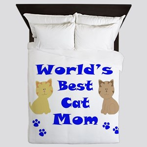 World's Best Cat Mom Queen Duvet