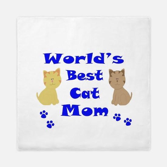 World's Best Cat Mom Queen Duvet
