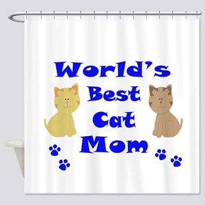 World's Best Cat Mom Shower Curtain