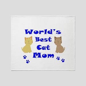 World's Best Cat Mom Throw Blanket