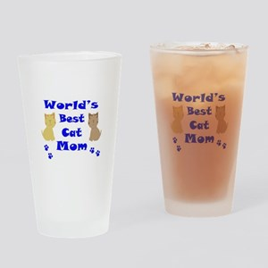 World's Best Cat Mom Drinking Glass