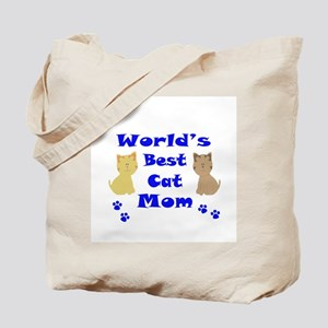 World's Best Cat Mom Tote Bag