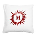 Personalize Initial Square Canvas Pillow