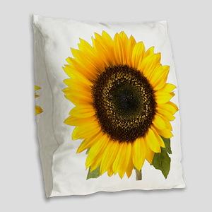 sunflower Burlap Throw Pillow