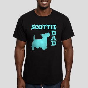 SCOTTIE DAD Men's Fitted T-Shirt (dark)
