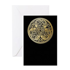 Celtic Knots as Birds Journal Cover Greeting Cards