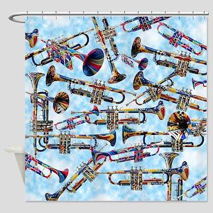 Trumpet Player Art Colorful Design Music Decor Sho