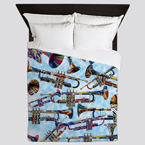 Trumpet Player Art Colorful Design Music Decor Que