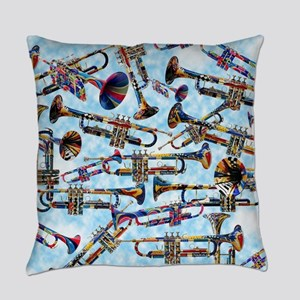 Trumpet Player Art Colorful Design Music Decor Eve