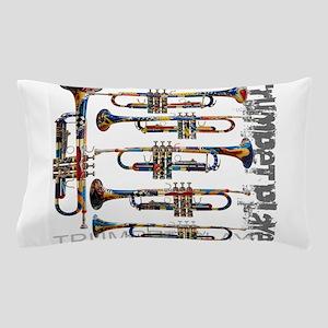 Trumpet Player Art Design by Juleez Pillow Case